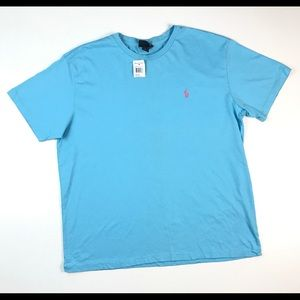 VTG POLO RALPH LAUREN SOLID SHIRT XL BLANK BLUE